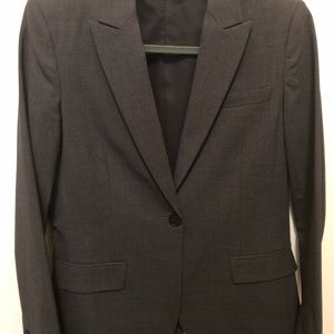Dark grey theory suit. Size 10.